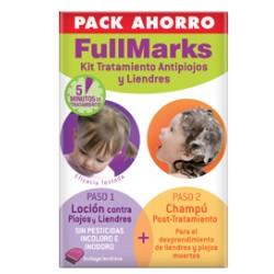 FullMarks pack ahorro loción + champú antipiojos y liendres + lendrera