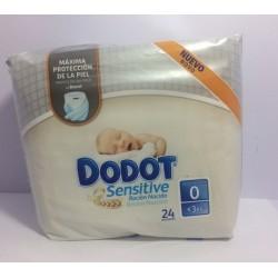 Dodot sensitive recién nacido pañales talla 0 (menos 3 kg) 24 unidades