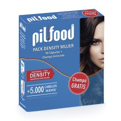 Pilfood Pack Density 1 mes-90caps + Champú Anticaída 200 Ml