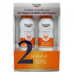 Eucerin Sun Spray Transparente Toque Seco SPF50 2x200ml
