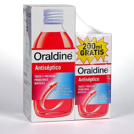 Oraldine Colutorio Antiséptico 400 ml + 200 ml GRATIS